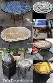 Outdoor Moroccan Furniture by Mosaic Tables Moroccan Tiles Los Angeles Page 2