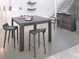 photo de cuisine blanche table de bar blanche table ronde blanche design pour idees de deco