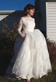 50 S Wedding Dresses Jenn U0027s Blog Sale Vintage 50s Wedding Dress Lace Tulle Ivory