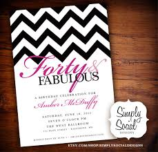 birthday invites 40th birthday party invitations templates cards