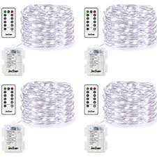 battery operated led string lights waterproof amazon com 4 pack fairy lights fairy string lights battery