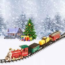 christmas tree train christmas lights decoration