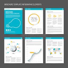 set of modern brochure flyer design templates stock vector image
