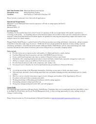 credit analyst resume investment analyst resume financial