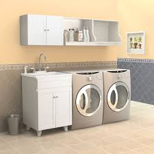 White Laundry Room Wall Cabinets Contemporary Laundry Room Area With Wooden Brookline White Laundry