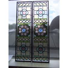 Stained Glass Door Panels by Stained Glass Panels For A Victorian Door In Pastel Colours