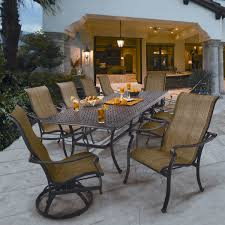 saratoga 11 piece sling patio dining collection