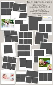 10x10 mpixpro layflat book or assembled album photoshop templates