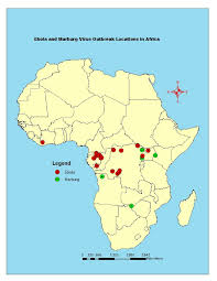 map 4 africa map of africa showing countries where ebola and marburg diseases