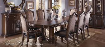 aico dining room buy monte carlo ii dining room set in cafe noir finish by aico from