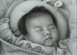 chiang mai portrait artists black and white charcoal pencil art