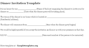 template invitation to dinner chatterzoom