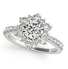 lotus flower engagement ring unique diamond engagement ring