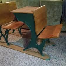 best vintage desk with ink well attached to runner to keep
