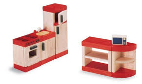Kitchen Dollhouse Furniture by Plan Toys Kitchen Set Gallery Also Wooden Toy Food Make Believe