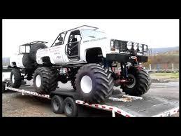 white chevy monster truck trailer big al u0027s racetrack