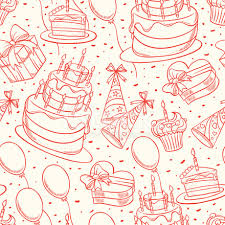 cute birthday sketch seamless background stock vector freeimages com