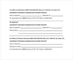 salary receipt template payment receipt format