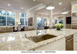 Kitchen Island With Granite Countertop Granite Countertop Stock Images Royalty Free Images U0026 Vectors