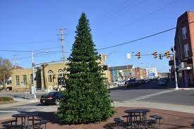 christmas decorations going up on mercer street news bdtonline com
