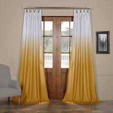 Ombre Sheer Curtains Get Ombre Gold Faux Linen Sheer Curtain