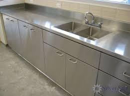 Stainless Steel Kitchen Cabinet Doors Kitchen Silver Star Stainless Steel Kitchen Base Cabinet With