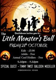 Monster Ball Halloween by Halloween Half Term At One2eleven One2eleven