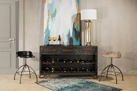 wine rack console table bridgewater console table with removable wine rack brushed tan wood