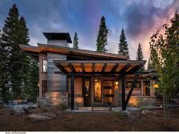 Small Mountain Home Plans - mountain house plans rear view