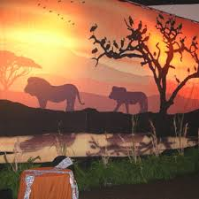 king of backdrops painted canvas sunset murals were used byspellbound