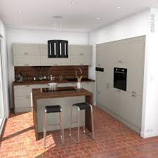 facades de cuisine cuisine traditionnelle couleur argile avec façades de meubles