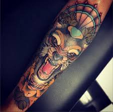 neotraditional wolf tattooconnection