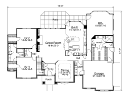 traditional style house plan 3 beds 2 5 baths 2695 sq ft plan