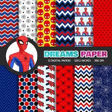 spiderman digital paper free clipart