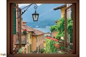mural mediterranean street view window 3 colours wallpapers mural mediterranean street view window 3 colours
