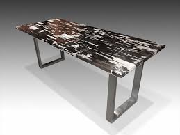 petrified wood dining table david alan collection petrified wood tile dining table with