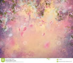 watercolor painting spring purple flowers wisteria stock