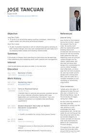 resume example for internship advertising internship sample