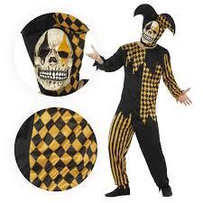 joker halloween masks mens jokers wild costume evil medieval clown jester fancy dress