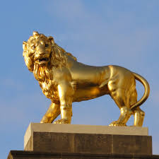 metal lion statue bronze lion sculpture