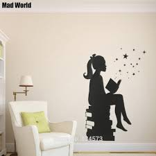 appealing wall art stickers amazon aliexpresscom buy muslim vinyl wondrous wall art stickers amazon mad world girl reading wall art stickers quotes australia