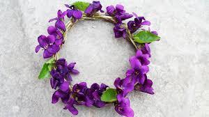 diy spring violet wreath head band spring room decor