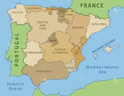 A Map Of Spain by Map Of Spain Outline Illustration Country Map Autonomous