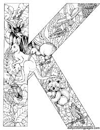 koala alphabet letters print color