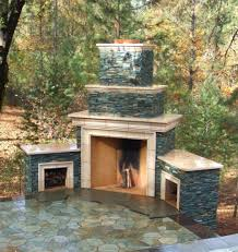 image stacked stone fireplace ideas outdoor pictures designs