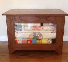 Quilt Storage Cabinets Side Tables For Quilts English Chestnut Stain Shown In Picture