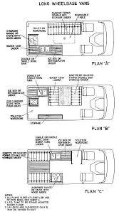 Caravan Floor Plans Long Wheel Base Van Conversion Floor Plans Rv U0026 Camper Living