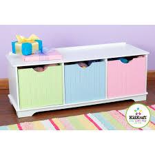 banc chambre enfant banc de rangement pastel mobilier chambre enfant