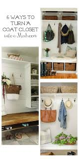 6 ways to turn a coat closet into a mudroom raising rustic