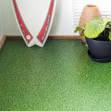 grass effect cushioned vinyl sheet lino non slip cushion flooring